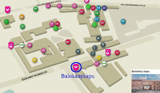 pécs zsolnay negyed térkép PTE   MK